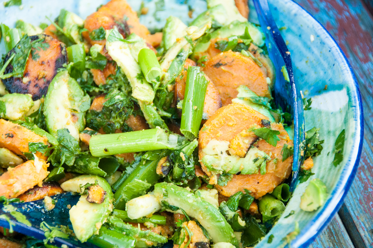 Salat Süßkartoffel-Avocado